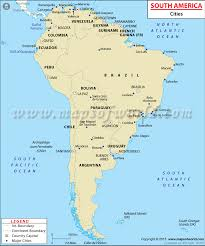 map of cities in south america south american cities cities in south america