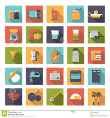 flat design cooking appliances vector icons collection stock