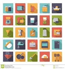 design kitchen appliances flat design cooking appliances vector icons collection stock