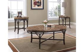 tuscan marble u0026 dark copper coffee table set my furniture place