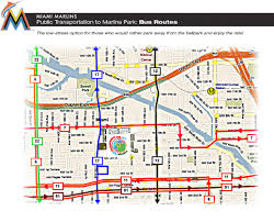 Metro Bus Routes Map by Transportation To Marlins Park Marlins Com Ballpark