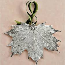 silver sugar maple leaf ornament from the jewelry