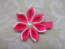 diy kanzashi flower kanzashi hair clip tutorial ribbon flowers