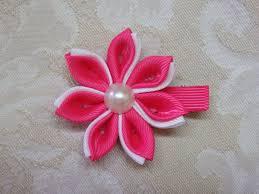 ribbon hair clip diy kanzashi flower kanzashi hair clip tutorial ribbon flowers