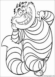 cheshire cat coloring pages simple hat planning