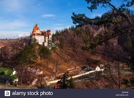 dracula castle in transylvania and wallachia stock photo royalty