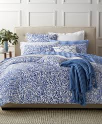 Macy S Home Design Down Alternative Comforter by Charter Club Damask Designs Paisley Denim King Comforter Set