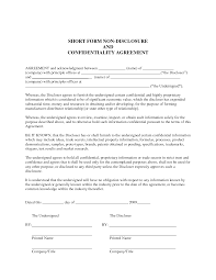 Secrecy Agreement Template sle non disclosure agreement confidentiality agreement sle