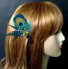 feather hair something blue peacock feather hair clip groom bout pin