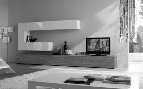 living room white modern contemporary design of tv stand