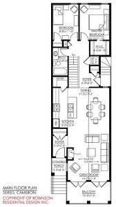 narrow floor plans enderby park narrow lot home plan 087d 0099 house plans and more