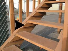 2x4 support for stair tread wood cleat
