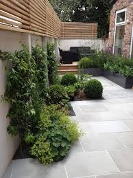 Small Courtyard Design Slim Courtyard House With Modern Paving And Stylish Planting