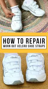 how to repair worn out velcro shoe straps my poppet makes