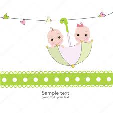 umbrella baby shower baby boy and girl with umbrella baby shower card stock