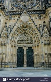 the design of the gothic cathedral was entrusted to the french stock photo the design of the gothic cathedral was entrusted to the french architect matthias of arras who found the inspiration in classical french