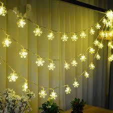 snowflake string of lights snowflake led string lights
