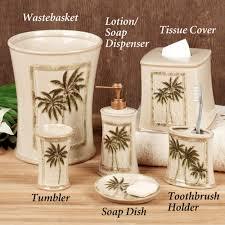 paradise palm bath accessories tropical bath accessories palm
