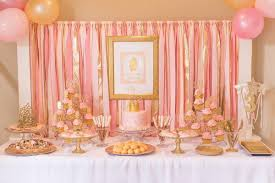 pink and gold cake table decor creative princess party ideas hative