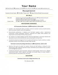 resume exles for receptionist veterinary receptionist resume sles krida info