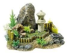 japanese zen garden rocks u0026 plants aquarium ornament fish tank