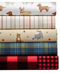 martha stewart collection 100 cotton printed flannel sheet sets