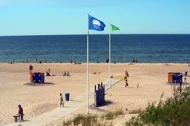 Beach Red Flag Beach Flags In Place To Inform About Swimming Safety Ventspils Lv