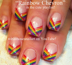 nail art design rainbow nails pride nails rainbow stripe nails