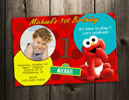 birthday invitation card elmo 1st birthday invitations