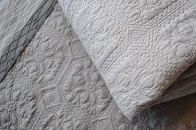 Grey Quilted Comforter Bedroom Classic Quilted Bedspreads With Natural Bed Company