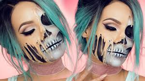 Halloween Skeleton Make Up by Melting Skull Desi Perkins Youtube