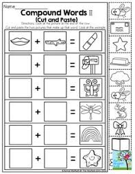 compound words activities pre reading skills compound words