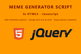 Meme Generator Script - code a meme generator script in html5 and javascript by vayne