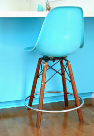 Teal Kitchen Chairs by Kitchen Progress Side Shell Stools From Modernica Dans Le Lakehouse