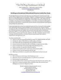 Resume For Montessori Teacher Job Opportunities Montessori Institute Of North Texas