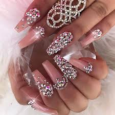 best 25 rhinestone nail designs ideas on pinterest coffin nail