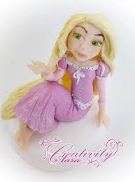 tangled cake topper how to make tangled cake topper fondant rapunzel in pasta di