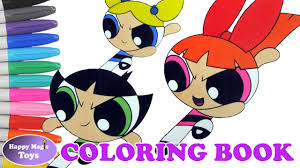 the powerpuff girls coloring book buttercup bubbles blossom