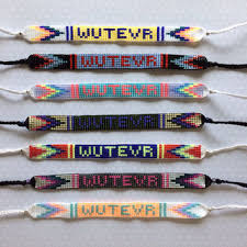 friendship bracelet with name images Custom word name bead loom friendship from michiko design jpg