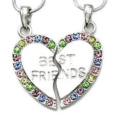 best friend heart necklace images Soulbreezecollection best friends forever bff heart jpg