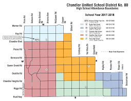 Map Of Greater Phoenix Area by Chandler Az Unified District Elementary Junior High And