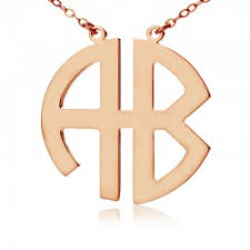 Block Monogram Necklace Necklaces Personalizedperfectly