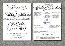 where to print wedding programs printed wedding program script elegance by writtenindetail wedding