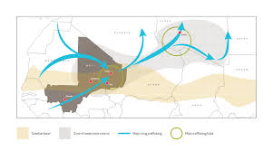 The Sahel Map Illicit Trafficking And Instability In Mali Past Present And