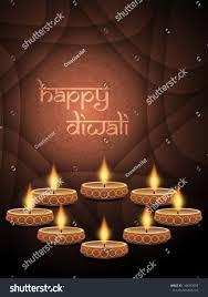 beautiful lamps religious background design diwali festival beautiful stock vector