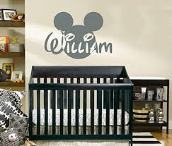 name wall decal mickey mouse head ears disney vinyl decals sticker name wall decal mickey mouse head ears disney vinyl decals sticker custom decals personalized baby boy name decor bedroom nursery baby room decor zx137 n