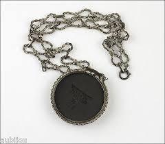 vintage black pendant necklace images Vintage wedgwood black jasper sterling silver porcelain cameo jpeg