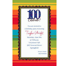 custom a year to celebrate 100th birthday invitations party city