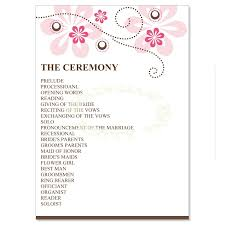 wedding program exles wording bridal shower program image bathroom 2017