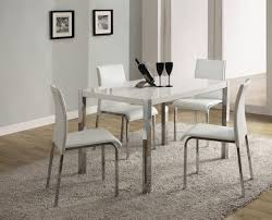 dining room 7 pieces dinette in white theme using tufted white